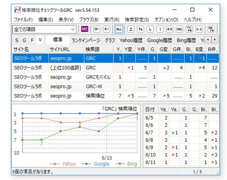 GRCの画面