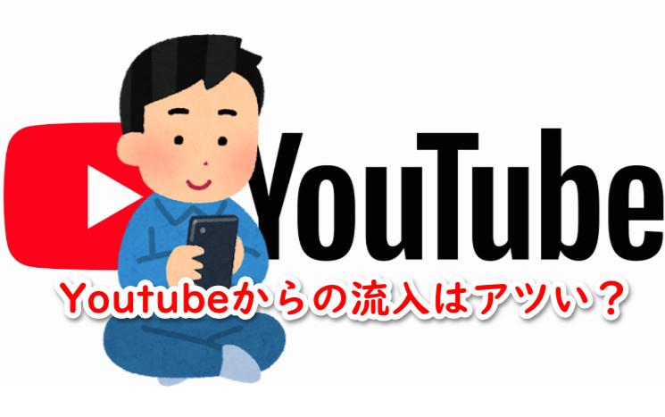 Youtubeからのブログ流入は滞在時間や回遊率が高い